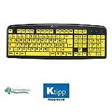 GeneralKeys Großschrifttastatur: Komfort-Tastatur mit kontraststarken Großschrift-Tasten (Tastatur gelb)