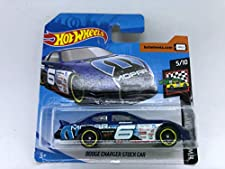 2019 Hot Wheels Dodge Charger Stock Car Blue 5/10 HW Race Day 76/250 (Short Card)