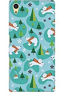 AMEZ designer printed 3d premium high quality back case cover for Sony Xperia Z5 (christmas doodles)