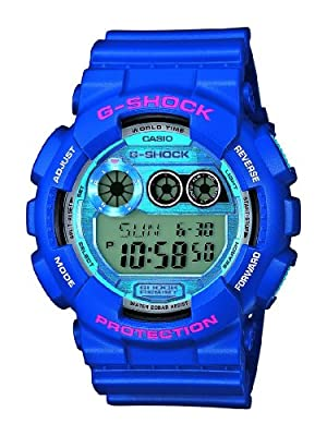 Casio G-Shock - Reloj de cuarzo para hombre, con correa de plástico, color azul