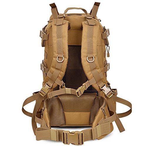 Große Kapazität outdoor Rucksack bergsteigen Taschen für Männer und Frauen Umhängetaschen wandern Wasserdicht travel Rucksack, Wolf Braun 55 L 59 * 40 * 28 cm (a) 55 L 59 * 40 * 28 cm