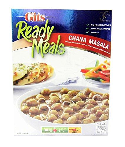 Gits Ready Meals - Plat préparé Chana Masala - plat indien aux pois chiches - lot de 2 boîtes de 300 g