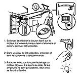 HD-Line tel Garage Télécommande pour Porte de Garage/Portail Alarme 433 MHz Argent