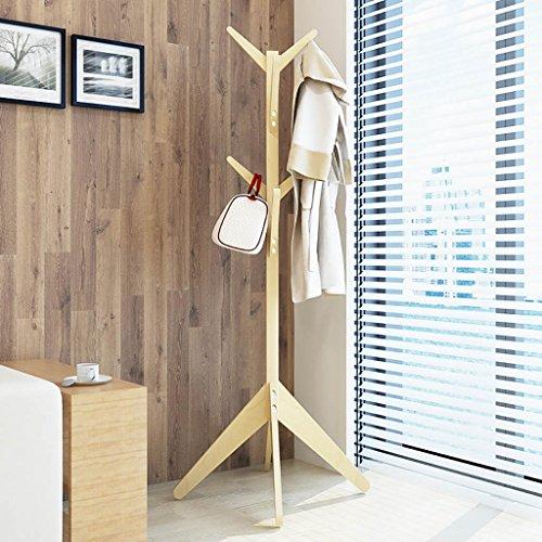 Galleria fotografica Appendiabiti piano pavimento in legno massello creativo appendiabiti da terra camera da letto appendiabiti appendiabiti semplice e moderno semplice ( Colore : E )