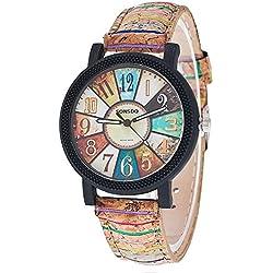Droys(TM)New Fashion Vintage Women Wristwatch Luxury Quartz Watch Relogio Feminino Gift Clock 1903