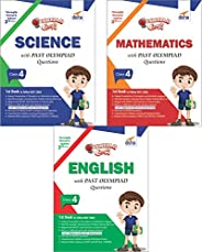 Olympiad Champs Science, Mathematics, English Class 4 with Past Questions (Set of 3 Books)