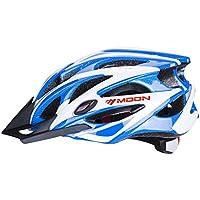 Asvert Casco Bicicleta Hombre Carretera MTB Visera PC+EPS Doble Protecciones Duradero y Ajustable Bici Montaña para Ciclismo, Talla M/L (Viento, L)
