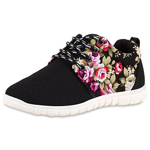 Homens Planas Mulheres Unissex Tênis Únicos Sapatilhas Desportivas Perfil Do Laço Sapatos Casuais Flores Pretas