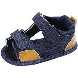 pattini di bambino Koly_Bambino appena nato Canvas s Sandali Scarpe suola molle Crib Toddler (Age:6~12 Month, Blue)
