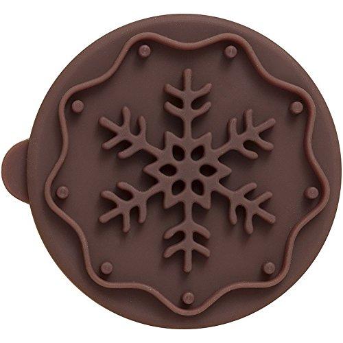 rbv-birkmann-flocon-de-neige-cookie-stamp-beige-marron-7-cm