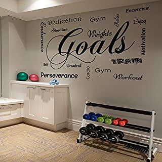 Gym Motivational Workout Wall Decal Quote Sticker Various Sizes and Colours