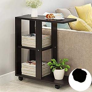 ACZZ Massivholz-Stehtisch, Mobiler Kleiner Tisch, Beistelltisch, Geeignet Für Wohnzimmer Sofa Seitliches…