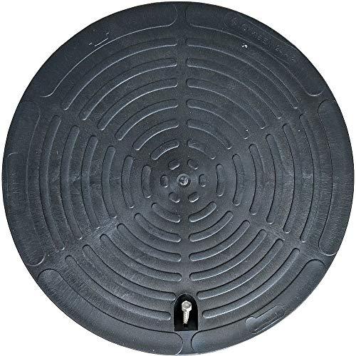 Schachtabdeckung rund für Kanalschachtrohr Innendurchmesser 400mm aus Kunststoff (Kunststoff-rohre)