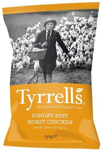 Tyrrell's Chips Lisses Poulet Roti du Dimanche 150 g - Lot de 12