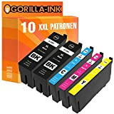 Gorilla Ink 10 Tinten-Patronen XXL GI35XL für Epson Workforce Pro WF 4720 DWF WF 4725 DWF WF 4730 DTWF WF 4735 DTWF WF 4740 DTWF