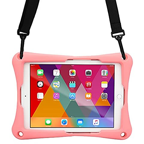 Barnes & Noble Nook Color Tablet case, [Cross Compatible Shoulder Strap Rugged Case] COOPER TROOPER 2K Protective Heavy Duty Carry Cover Stand, Drop Shock Proof, Kids Adults