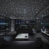 Igemy Glühen im dunklen Stern Wandaufkleber 407 Stück runder Punkt Leuchtende Kinder Zimmerausstattung (A)