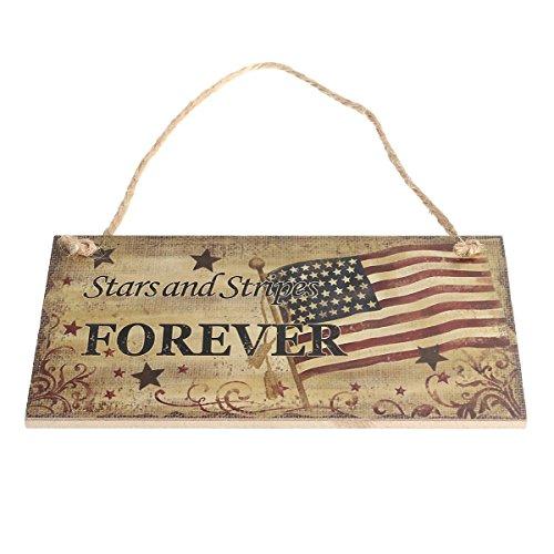 Soochat 4. Juli Schild Zum Aufhängen, Unabhängigkeit Tag Party Dekorationen, Vierte Juli Dekoration, Stars und Stripes Foreve