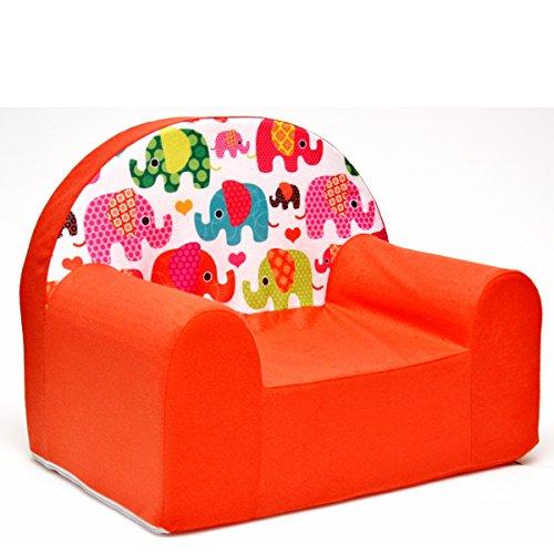 F9 Fauteuil Fauteuil enfants Enfants Enfants Canapé Fauteuil relax Orange (éléphant)