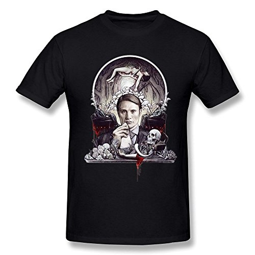 Arnoldo Blacksjd Men's Hannibal Movie Funny T-shirt X-Large