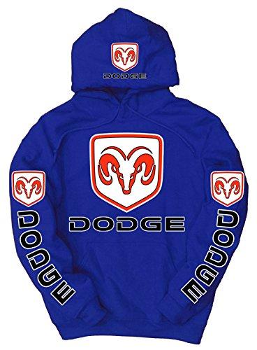 Dodge Logo Hoodie, XXXX-Large Blue (Dodge Camo Hoodie)