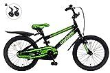 POPAL Kinderfahrrad - MAX - 18 Zoll ( grün ) MTB Jungen Fahrrad Jungenrad