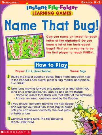 Name That Bug! Instant File-Folder: Learning Games, Grades K-2 -