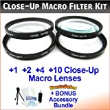 #10: 37mm Digital High-Resolution Close-Up Macro Filter Set with Pouch For The Sony HDR-HC5 HC7 HC9 Dv Camcorders. Includes Multi-Coated 4-Pc Close-Up Macro Set (+1 +2 +4 and +10 Diopters) Deluxe Filter Carry Case + BONUS UltraPro Bundle: Cleaning Kit LCD Screen Protector Mini Tripod