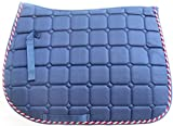 #9: Tete-a-Tails Berry Blue Quilted All Purpose Saddle Pad for Equestrian Sports and Riding