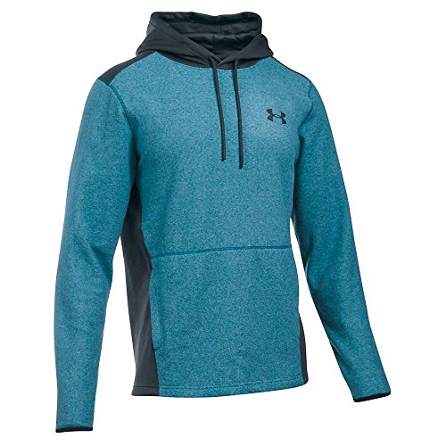 Under Armour Herren Coldgear Infrarot Fleece Hoodie, Herren, Peacock/Stealth Gray - Coldgear Hoody