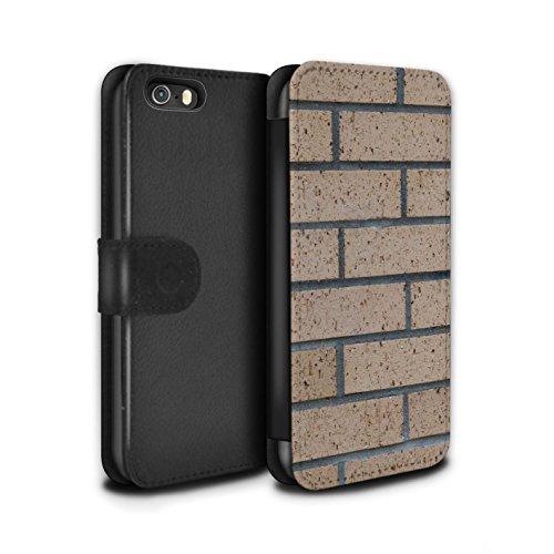 Stuff4 Coque/Etui/Housse Cuir PU Case/Cover pour Apple iPhone 5/5S / Silex / Pierre Design / Maçonnerie Collection Nouvelle/Jaune