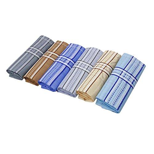 Lot 6 Pcs coton poche Mouchoir hommes Hanky ??Accessoires Multicolore-2