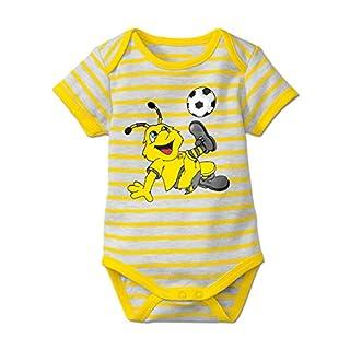 BVB Kinder Babybody Gestreift Emma, weiß/gelb, 62/68, 2466538