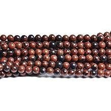 Perlen Obsidian 8mm Mahagoni Strang 46 Stück