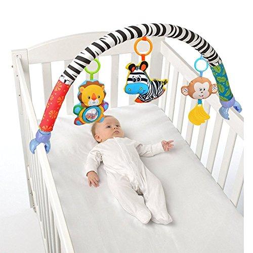Singring Spielbogen Spielzeug für den Kinderwagen Bett oder Buggy mit Rassel und BB Gerät (Zebra) - Kinderwagen Baby-affe-autositz Und