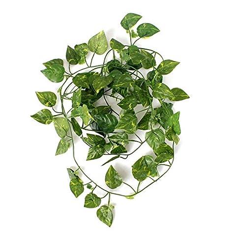 Kungfu Mall 2m Künstliche Ivy Vine Pflanze Grün Blatt Garland Hausgarten Feiertags Dekoration
