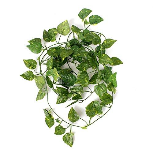 2 Pflanzen (Kungfu Mall 2m Künstliche Ivy Vine Pflanze Grün Blatt Garland Hausgarten Feiertags Dekoration)