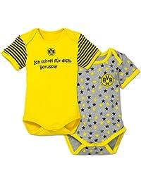 Milch her Fuppes l/äuft Babybody Kurzarm gelb-Print