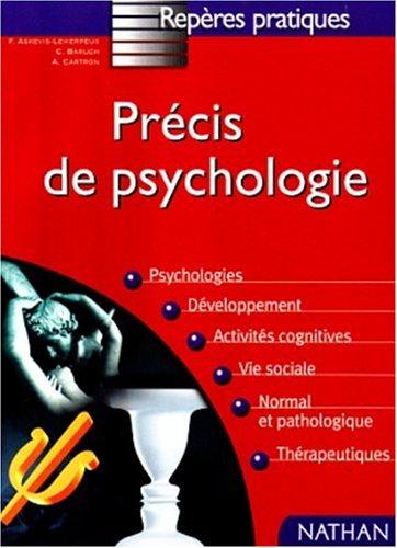 Prcis de psychologie