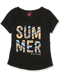 Rip Curl niña Short Sleeve Tee Camiseta Summer Negro negro Talla:16