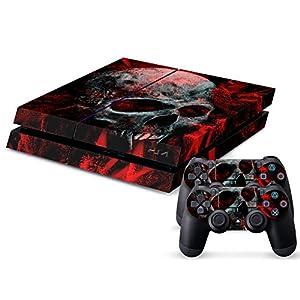 Sony PS4 Playstation 4 Skin Design Foils Aufkleber Schutzfolie Set – Vampire Skull Motiv