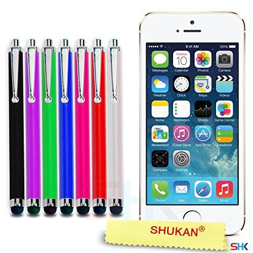 """Apple iPhone 6 / 6S Plus (5.5"""" Inch) Pack 1, 2, 3, 5, 10 Protecteur d'écran & Chiffon SVL0 PAR SHUKAN®, (PACK 10) Grand Stylus 7"""