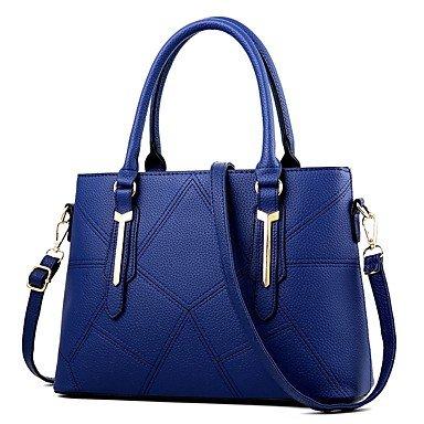 Damenmode PU Leder Schulter Messenger Crossbody-tasche/Handtasche Tote Dark Blue