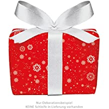 Set of 5 Christmas Wrapping Paper Sheets Snowflakes in red for Christmas and Advent Season. Christmas Paper for Christmas Gifts, Advent Calendar and Much More. (Format : 50 x 70 cm)