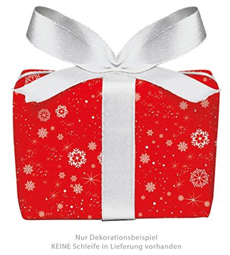 Set di 5 fogli di carta da regalo natalizia a forma di fiocchi di neve in rosso per Natale & Avvento • Carta di Natale per regali di Natale, calendario dell'Avvento ecc. (Formato: 50 x 70 cm)