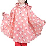 Dehots Regenmantel Kinder Regenponcho Regenjacke Unisex mit Kapuze Wasserdicht Regencape für Jungen Mädchen