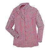 MADDOX XXL Trachtenhemd Karo rot-weiß, XL Größe:6XL