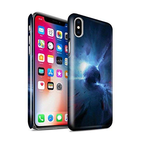 Offiziell Chris Cold Hülle / Glanz Snap-On Case für Apple iPhone X/10 / Pack 6pcs Muster / Galaktische Welt Kollektion Pulsar/Neutron Stern