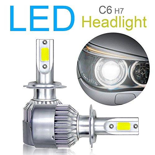 2PCS H7LED Headlight Bulbs Conversion Kit, Advanced COB chips High/Low Beam/Fog Light bulbs 10800LM 6000K 120W super luminoso bianco