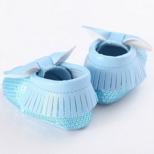 Apartamentos Prewalke Sapatos Meninos Borla Único Bebê Bowknot Berço Walker Sapatos Azul Meninas Hunpta Criança Azul 12 Barco Macios De IqZYPSwx7